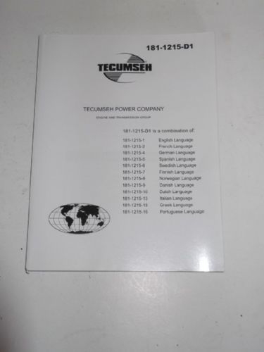 TECUMSEH LV148EA / LV159EA Multi Language Operators Manual